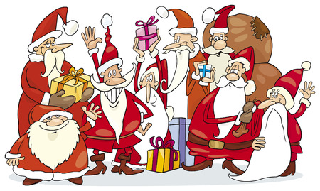 santa claus group Stock Vector - 5815817