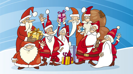 santa claus group Vector