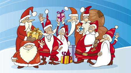 santa claus group Illustration