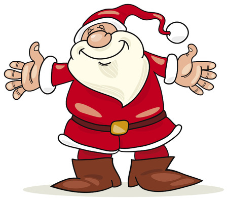 cheerful santa claus Illustration