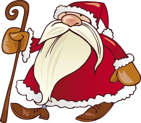 santa claus walking Stock Vector - 5815777