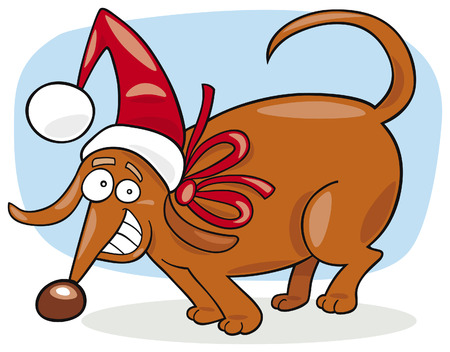 funny christmas dog Vector