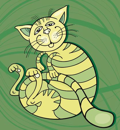 mouser: Green Happy Cat