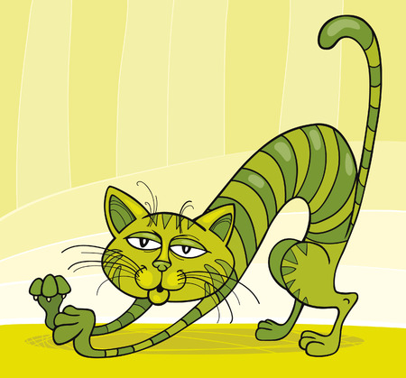 mouser: Green Cat stretching