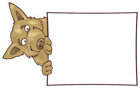 german: german shepherd dog with card