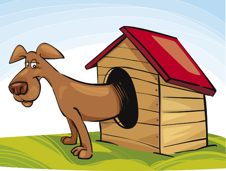 Dog in Doghouse Stock Vector - 5839979