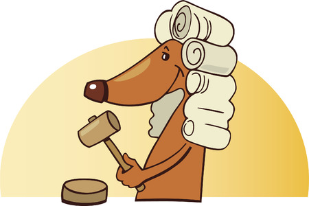 dog judge Vector