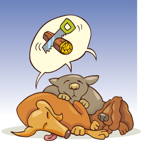 snore: three dogs sleeping