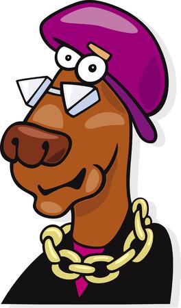 eccentric: eccentric dog Illustration