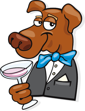 humor glasses: elegant dog