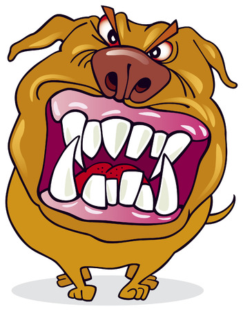 threaten: Bad dog