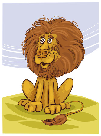 lion smiling Vector
