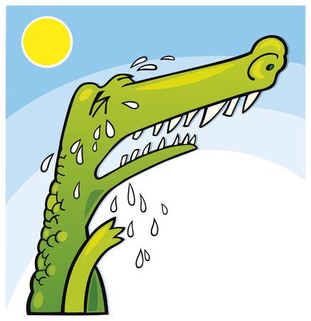 huilen krokodillen  Vector Illustratie