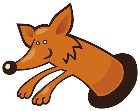burrow: fox in burrow