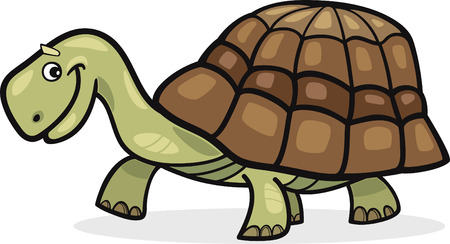 carapace: cheerful turtle Illustration