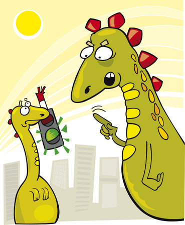 Rude Young Godzilla Stock Vector - 5978876