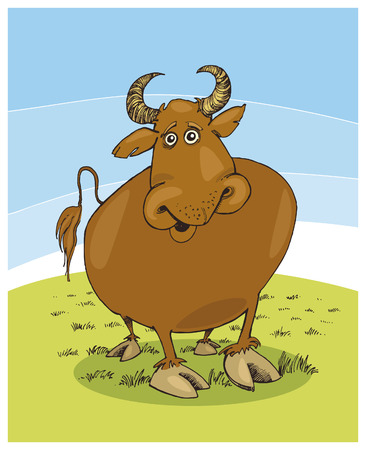 funny bull Stock Vector - 5978895