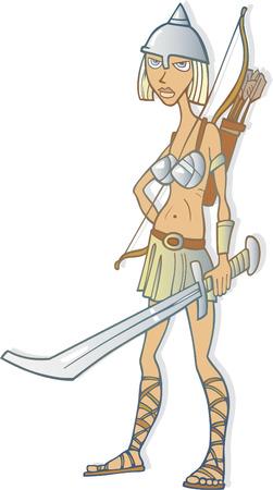 warrior woman Stock Vector - 5978911
