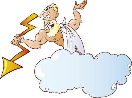 greek god: Zeus griego de Dios  Vectores