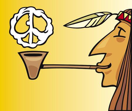 pijp roken: Indiase Rookvrije pijp van vrede