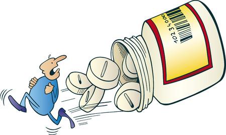 away: man run away before pills