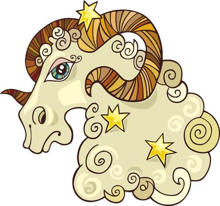 aries zodiac: zodiac aries sign Illustration