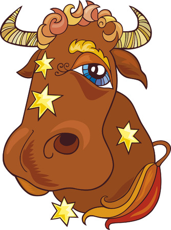 taurus sign: zodiac taurus sign Illustration