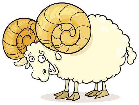 funny zodiac aries Vector