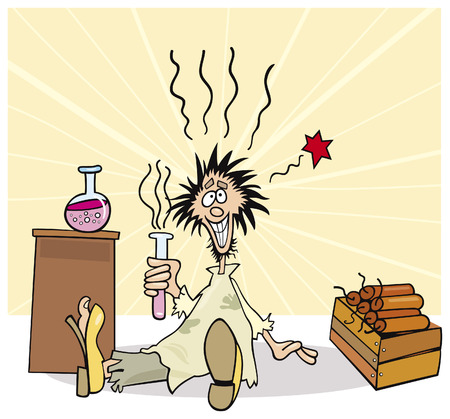 crazy scientist Stock Vector - 6067838