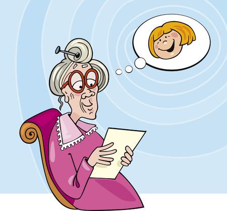 granny: grandmother Illustration