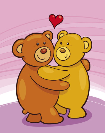 Teddy Bears in Love Stock Vector - 6201302