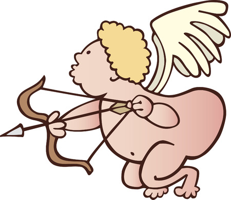 funny cupid with bow Vector