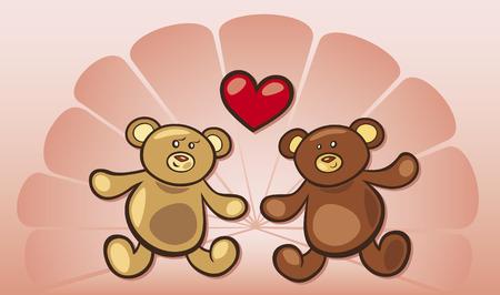 teddy bears in love Vector