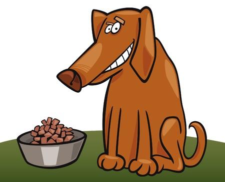 fodder: dog and his fodder Illustration