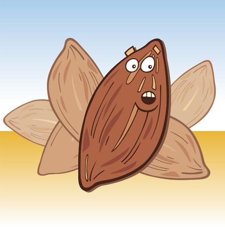 amande: Dr�le de surprise almond Illustration