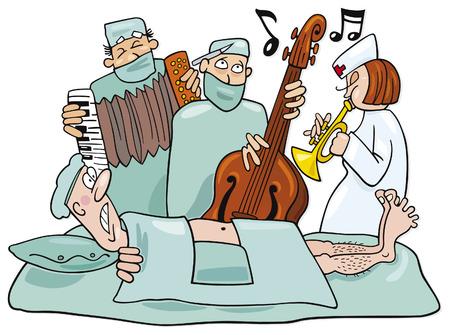 crazy surgeons operation band Illustration
