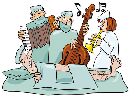 operations: crazy surgeons operation band Illustration
