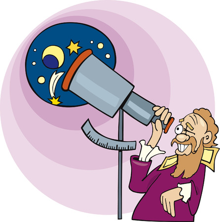 Galileo the astronomer Stock Vector - 7165808