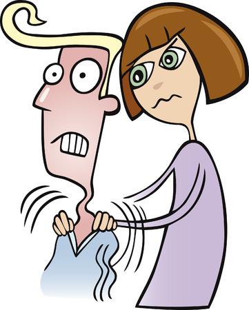 novios enojados: mujer haciendo masaje a su hombre