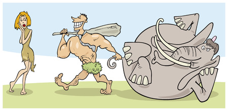 prehistoric couple Vector