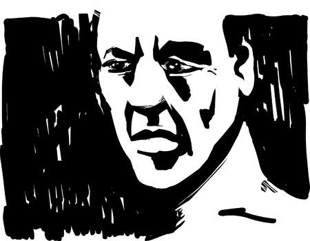 omini bianchi: Uomo viso in ombra