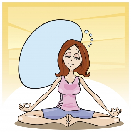 women yoga: woman in meditation