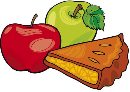 pastel de manzana: las manzanas y tarta de manzana