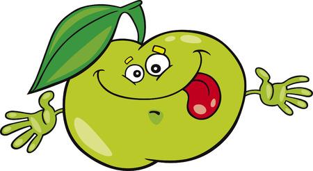 apple cartoon: cartoon apple