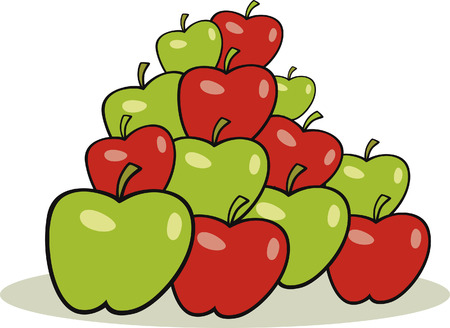 heap of apples Stock Vector - 7270193