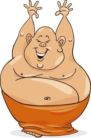 chubby cartoon: happy man