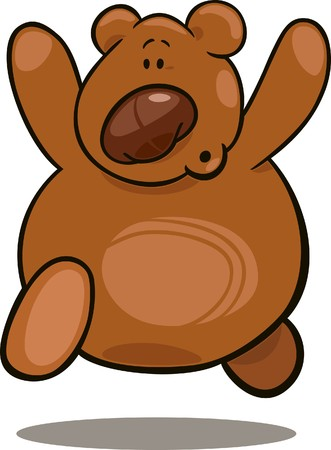 oso caricatura: Oso de peluche en ejecuci�n  Vectores