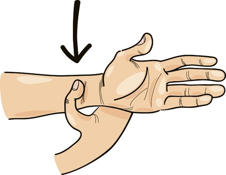special acupressure point on hand Vector