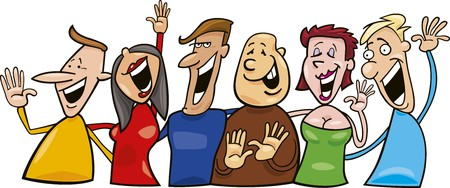 group of laughing people Stock Vector - 7431259