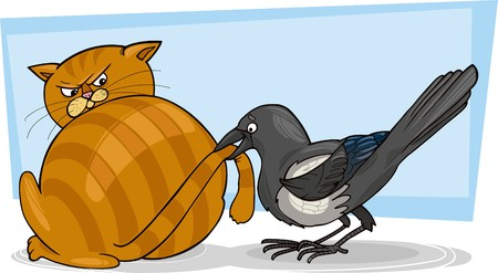 crow: cat and magpie